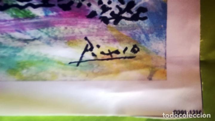 Arte: Obra Pablo Picasso, Don Quijote y Sancho , Screenprint, Serigrafia sobre Lona lienzo,Tamaño 48 x 37 - Foto 4 - 272512758