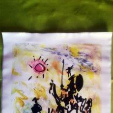 Arte: OBRA PABLO PICASSO, DON QUIJOTE Y SANCHO , SCREENPRINT, SERIGRAFIA SOBRE LONA LIENZO,TAMAÑO 48 X 37. Lote 272512758
