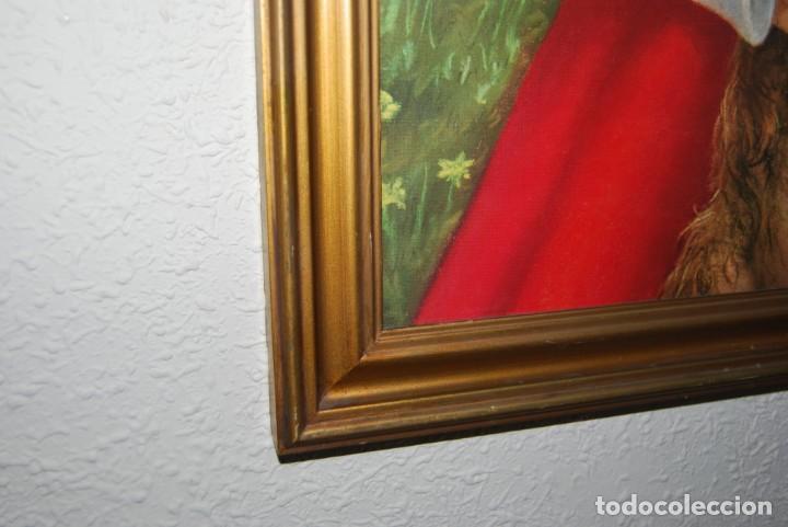 Arte: INCREÍBLE LITOGRAFÍA SOBRE TABLEX - NIÑA CON PERRO Y PÁJARO PASEANDO POR EL CAMPO - AÑOS 50 - Foto 12 - 272582178