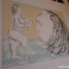 Arte: SERÍGRAFÍA FIRMADA Y NUMERADA 177/300 AÑO 1975 CARTULINA 69X50 CM. DIBUJO 40X30 CM FIRMA DESCONOCIDA. Lote 273724233