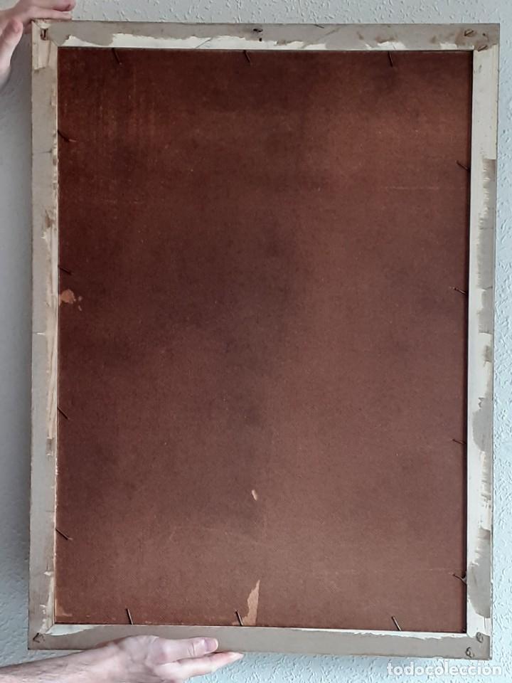 Arte: INCREÍBLE LITOGRAFÍA SOBRE TABLEX - NIÑA CON PERRO Y PÁJARO PASEANDO POR EL CAMPO - AÑOS 50 - Foto 13 - 272582178
