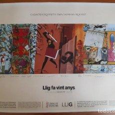 Arte: LLIG FA VINT ANYS - MICHARMUT, SENTO LLOBELL, CALPURNIO...- PERFECTO ESTADO. Lote 275137118