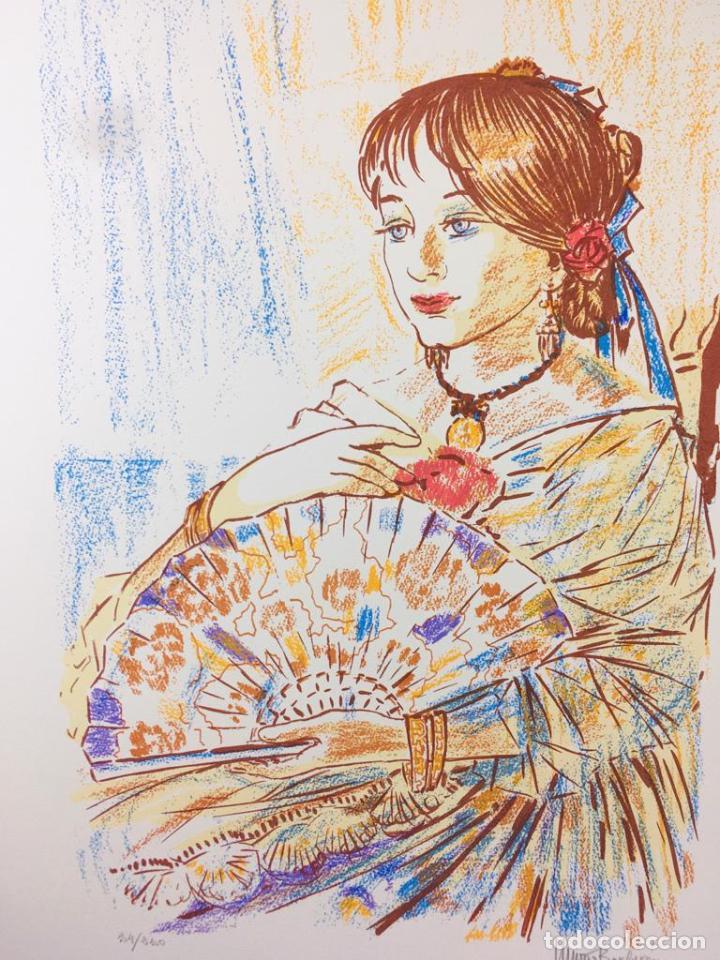 Arte: 5 serigrafias EXPOSICION RECORDANDO A PARRAGA 1999 muñoz barberan, pina nortes avellaneda hernansaez - Foto 5 - 276632263