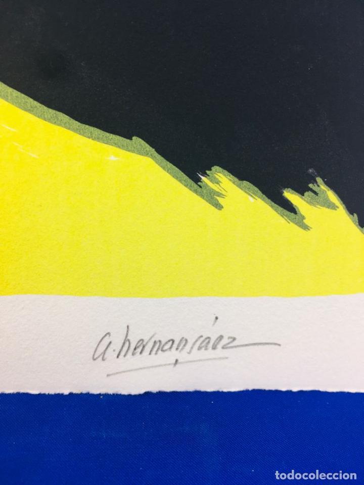 Arte: 5 serigrafias EXPOSICION RECORDANDO A PARRAGA 1999 muñoz barberan, pina nortes avellaneda hernansaez - Foto 35 - 276632263