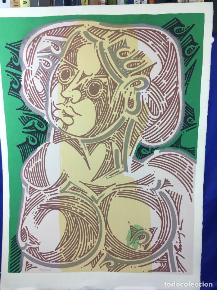 Arte: 5 serigrafias EXPOSICION RECORDANDO A PARRAGA 1999 muñoz barberan, pina nortes avellaneda hernansaez - Foto 47 - 276632263