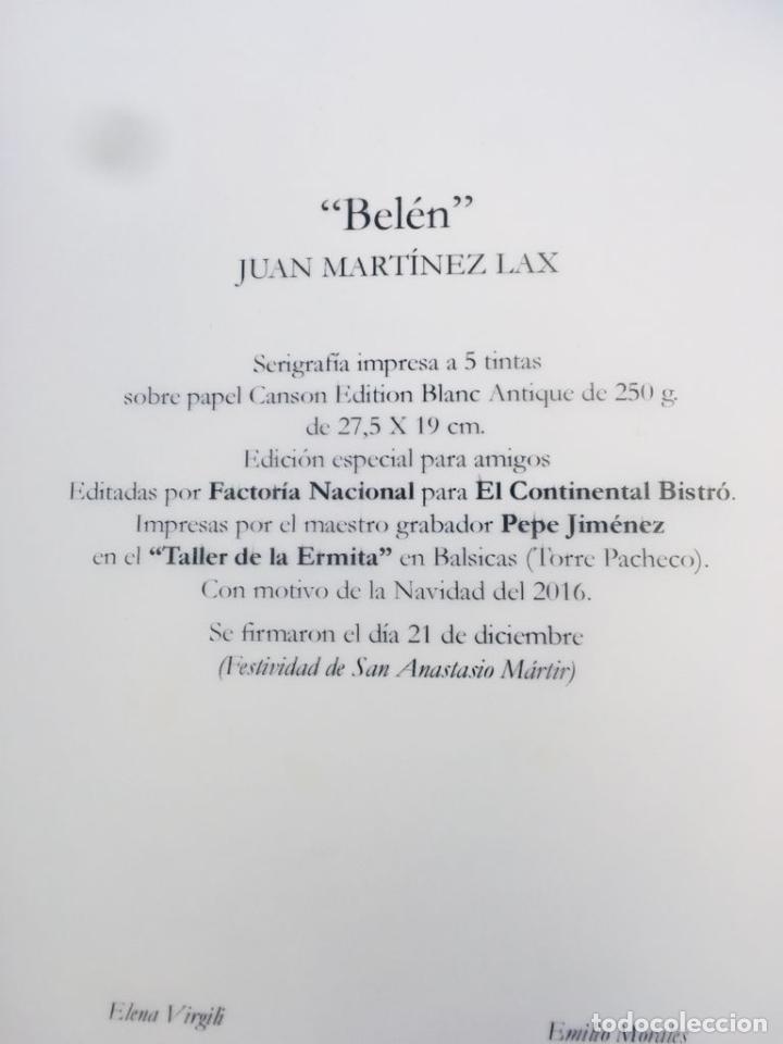 Arte: SERIGRAFIA BELEN, JUAN MARTINEZ LAX - Foto 2 - 276637768