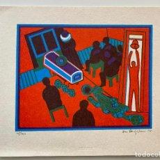 Arte: DAN STERUP-HANSEN , 1978 , LITOGRAFIA , FIRMADA Y NUMERADA . COMPOSICIÓN FUNERAL. Lote 279526693