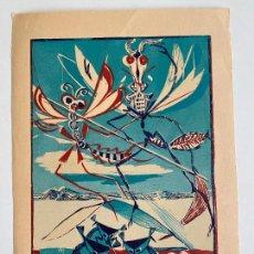 Arte: PAUL RENÉ GAUGUIN , XILOGRAFÍA , SIN FIRMAR . INSECTOS .. Lote 279527193