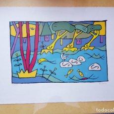 Arte: CUADRO-JORGE PETEIRO-SERIGRAFÍA 150/150-FIRMADA-VER MEDIDAS-COLECCIONISTAS. Lote 285658243