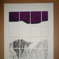 Arte: ANDRÉS TRAPIELLO ANDRÉS GARCÍA TRAPIELLO (LEÓN 1953) SERIGRAF 1976 DE 40X48 PAPEL 50X48 FIRMA 170/20. Lote 288362923