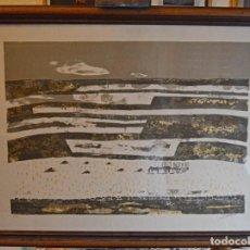 Arte: JOSE BEULAS - MAGNÍFICA SERIGRAFÍA - PAISAJE CON CABALLERÍA - 8/50 - GRANDE - ENMARCADA Y FIRMADA. Lote 289759288