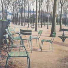 Arte: JOSEP Mª VAYREDA CANADELL (OLOT, 1932-2001) - JARDINES DE PARÍS. PRUEBA DE ARTISTA.FIRMADA.. Lote 291408983