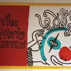 Arte: CARTEL- KEITH HARING-THE PARIS REVIEW-EDICIÒN LIMIT Nº103 DE 200.FIRMADO .SERIGRAFIA 60,9 X 81,3 CM. Lote 295885033