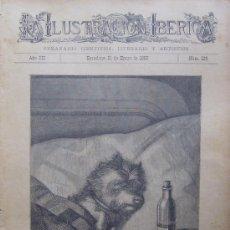 Arte: ESO DE TENER QUE GUARDAR CAMA. XILOGRAFIA ORIGINAL DE 1885 . Lote 25732647