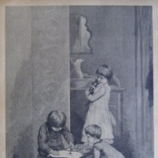 Arte: DESPUES DE REYES (DIBUJO DE J.R. WEHLW). XILOGRAFIA ORIGINAL DE 1885. Lote 25034002