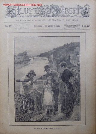 LOS ABUELOS RIVALES (CUADRO DE J. REID). XILOGRAFIA ORIGINAL DE 1885 (Arte - Xilografía)