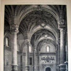 Arte: XILOGRAFIA - ZARAGOZA, VISTA DEL INTERIOR DE LA LONJA (1885). Lote 17408822