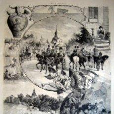 Arte: XILOGRAFIA - MADRID, ROMERIA DE SAN ISIDRO (1885). Lote 17408830