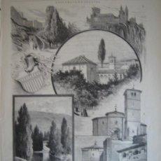 Arte: XILOGRAFIA - SEGOVIA, RECUERDOS (1885). Lote 26830228