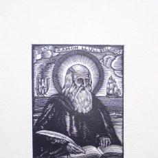 Arte: XILOGRAFÍA DE RAMÓN LLULL / JOAN CASTELLS MARTÍ . XILOGRAFÍA ¿AÑOS 50-60 ?. Lote 15999053