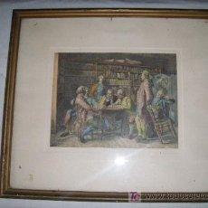 Arte: XILOGRAFIA EN COLOR ANTIGUA ENMARCADA. Lote 27449806