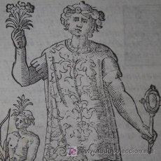 Arte: XILOGRAFÍA DE JOVEN MEXICANO DE VECELLIO, 1598. Lote 20937698