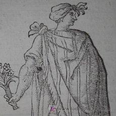 Arte: XILOGRAFÍA DE NOBLE MEXICANO DE VECELLIO, 1598. Lote 20937754