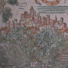 Arte: XILOGRAFÍA DE VISTA DE TIVOLI (ITALIA) DE MÜNSTER, 1600. Lote 20940205