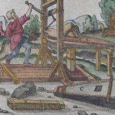 Arte: XILOGRAFÍA DE FUELLES EN LA MINERÍA MEDIEVAL DE AGRÍCOLA, 1557. Lote 21701294