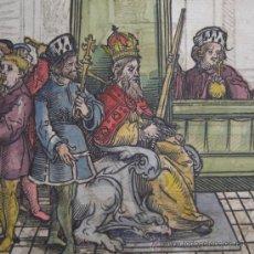 Arte: XILOGRAFÍA DEL CONCILIO DE CONSTANZA POR RICHENTHAL, 1536. Lote 21701454