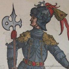 Arte: CABALLEROS DEL RENACIMIENTO DE CHRISTOPH WEIDITZ, 1580. Lote 23465710