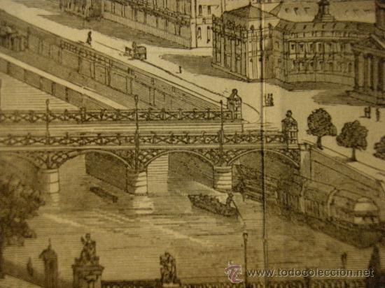 Arte: VISTA DE PARIS. XILOGRAFIA ANTIGUA DE SEGUNDA MITAD DEL XIX - Foto 4 - 26408798