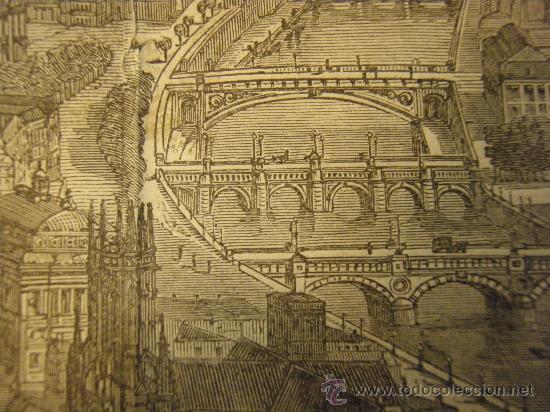 Arte: VISTA DE PARIS. XILOGRAFIA ANTIGUA DE SEGUNDA MITAD DEL XIX - Foto 2 - 26408798
