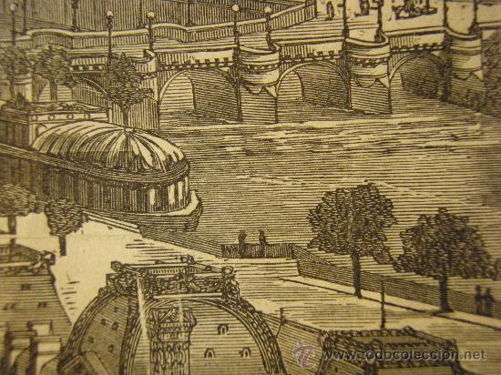 Arte: VISTA DE PARIS. XILOGRAFIA ANTIGUA DE SEGUNDA MITAD DEL XIX - Foto 7 - 26408798