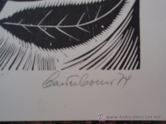 Arte: Castro Couso 1979 - Grabado Xilografía - Rosalia de Castro. - Foto 4 - 26866934