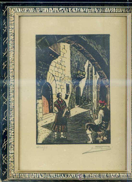 JOAN CASTELLS MARTÍ : ARAGÓ - XILOGRAFÍA FIRMADA (Arte - Xilografía)