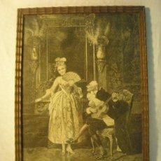 Arte: XILOGRAFIA DE FINALES DEL XIX. EL VIEJO ENAMORADO DE MANTEGAZZA. Lote 28877351