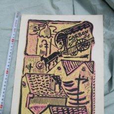 Arte: XILOGRAFIA ORIGINAL DEL PINTOR CUBANO ANTONIO CANET.SUPERFICIE GRABADA.. Lote 31565856
