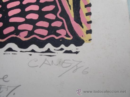 Arte: XILOGRAFIA ORIGINAL DEL PINTOR CUBANO ANTONIO CANET.SUPERFICIE GRABADA. - Foto 2 - 31565856