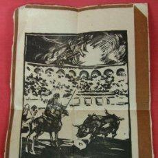 Arte: XILOGRAFIA PLAZA DE TOROS PICADOR SUERTE DE VARAS FIRMA A EN C PPIOS S XX 29 X 18,5 CM. Lote 32449550