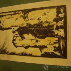 Arte: CASTILLO DE ZIGUENZA ANTIGUA XILOGRAFIA DE LOYGORRI PARA MEDIX 27,5 X 18 CM SOBRE CARTON 28,5 X 38. Lote 34041948