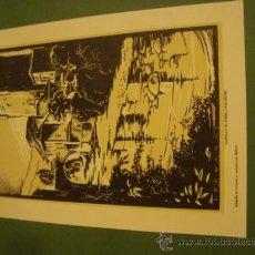 Arte: CASTILLO DE POTES SANTANDER ANTIGUA XILOGRAFIA LOYGORRI PARA MEDIX 27,5X18 CM SOBRE CARTON 28,5X38. Lote 34042022