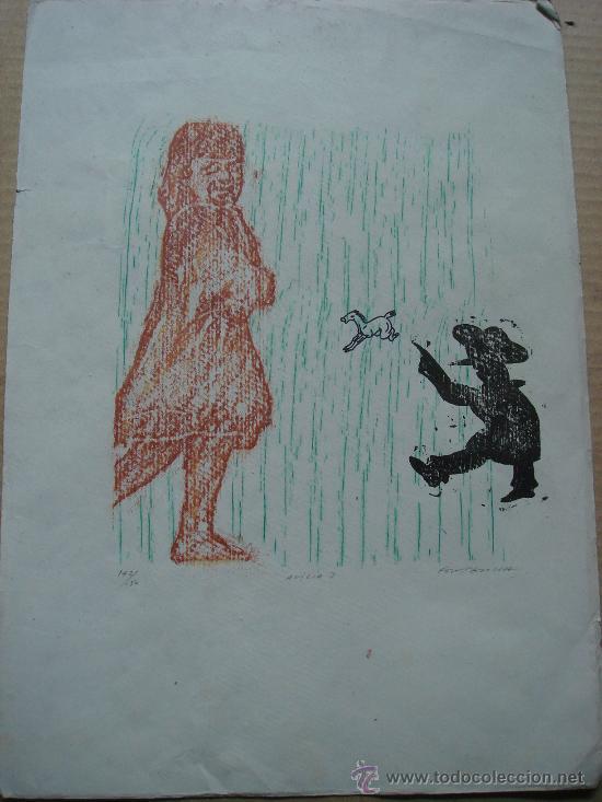 XILOGRAFIA ORIGINAL DE ERNESTO FONTECILLA, 1976 (Arte - Xilografía)