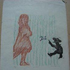 Arte: XILOGRAFIA ORIGINAL DE ERNESTO FONTECILLA, 1976. Lote 35142465