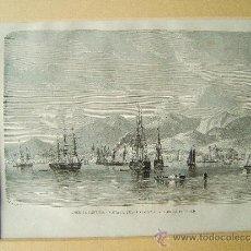 Arte: AMERICA CENTRAL-VISTA DE PUERTO-ESPAÑA,ISLA DE LA TRINIDAD(TRINIDAD Y TOBAGO) -22X31 CM.-1872/1882 ?. Lote 35829215