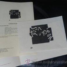 Arte: CHILLIDA + CERTIFICADO DE AUTENTICIDAD ***VALORADO 2000 EUROS**** OPORTUNIDAD !-----EDUARDO CHILLIDA. Lote 36271520