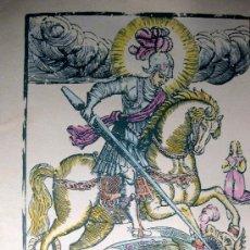 Arte: F. ABADAL. FACSÍMIL XILOGRAFÍA SIGLO XVII. SANT JORDI. TARRAGONA. GOGISTES. 1983. Lote 36635001