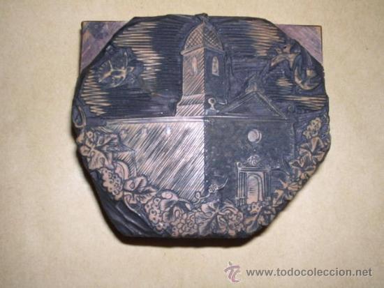 ENRIC CRISTOFOR RICART ANTIGUA PLACA DE BOJ ( XILOGRAFIA ) PARA IMPRIMIR - 8X7 CM. (Arte - Xilografía)