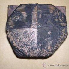 Arte: ENRIC CRISTOFOR RICART ANTIGUA PLACA DE BOJ ( XILOGRAFIA ) PARA IMPRIMIR - 8X7 CM. . Lote 36781078