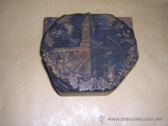 Arte: ENRIC CRISTOFOR RICART antigua PLACA DE BOJ ( XILOGRAFIA ) PARA IMPRIMIR - 8X7 CM. - Foto 2 - 36781078